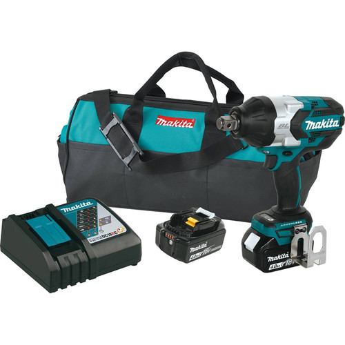 Makita XWT07M 18V LXT Lithium-Ion Brushless High Torque 3/4 in. Square Drive Impact Wrench w/Friction Ring Kit