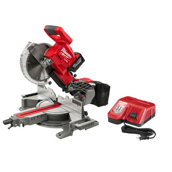 Milwaukee 2734-21HD M18 FUEL 9.0 Ah Cordless Lithium-Ion 10 in. Dual Bevel Sliding Compound Miter Saw image number 1