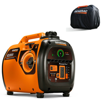 Factory Reconditioned Generac 6901R iQ2000 Inverter Generator 6866 with Storage Cover 6875 Combo Kit image number 0