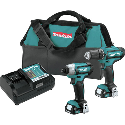 Factory Reconditioned Makita CT226-R CXT 12V max Cordless Lithium-Ion 1/4 in. Impact Driver and 3/8 in. Drill Driver Combo Kit image number 0
