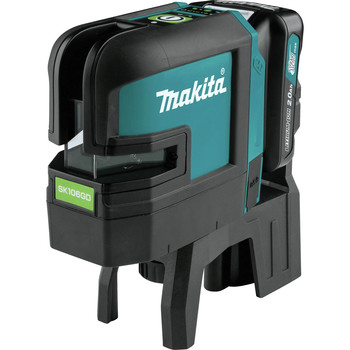Makita SK106GDNAX 12V max CXT Lithium-Ion Cordless Self-Leveling Cross-Line/4-Point Green Beam Laser Kit (2 Ah) image number 1
