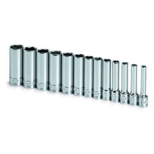 SK Hand Tool 41697 6-Point 1//4-Inch Drive Deep Socket Chrome