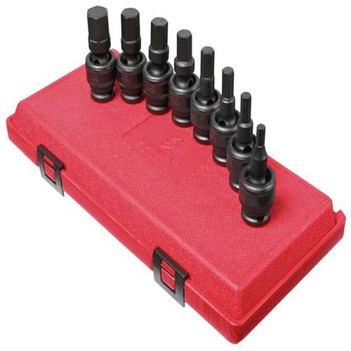 Sunex 2748 8-Piece 1/2 in. Drive SAE Universal Hex Bit Driver Impact Socket Set image number 0