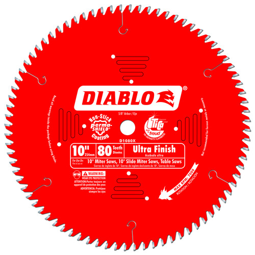 Diablo D1080X 10 in. 80 Tooth Ultra Fine Finish Saw Blade