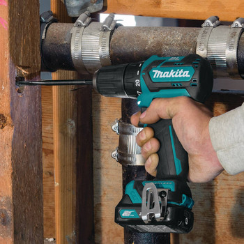 Makita FD07R1 12V max CXT Lithium-Ion Brushless 3/8 in. Cordless Drill Driver Kit (2 Ah) image number 9