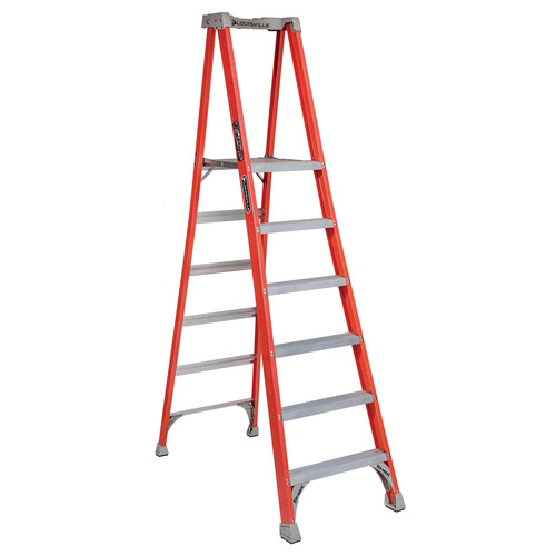 Louisville FXP1706 6 ft. Type IA Duty Rating 300 lbs. Load Capacity Fiberglass Platform Step Ladder image number 0
