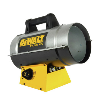 Dewalt F340715 55,000 - 90,000 BTU Forced Air Propane Heater image number 1