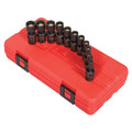 Sunex 1825 11-Piece 1/4 in. Drive 12-Point Metric Magnetic Universal Impact Socket Set