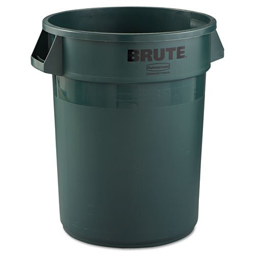 Rubbermaid 2632DGR 32 Gal. Round Brute Container (Dark Green)