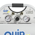 Quipall 4-1-SILTWN-AL 4.6 Gallon 1 HP Aluminum Twin Stack Ultra Quiet and Oil Free Compressor image number 1