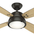 Hunter 59438 52 in. Wingate Noble Bronze Ceiling Fan with Light and Handheld Remote image number 3