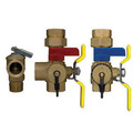 Rheem RTG20220AB Tankless Service Clean Brass Valve Kit with Relief Valve