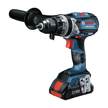 Bosch GXL18V-224B25 18V 2-Tool 1/2 in. Hammer Drill Driver and 2-in-1 Impact Driver Combo Kit with (2) CORE18V 4.0 Ah Lithium-Ion Batteries image number 4