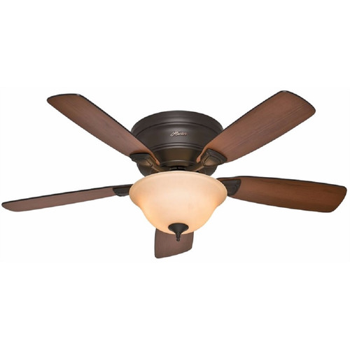 Hunter 52063 48 in. Low Profile New Bronze Ceiling Fan with Light