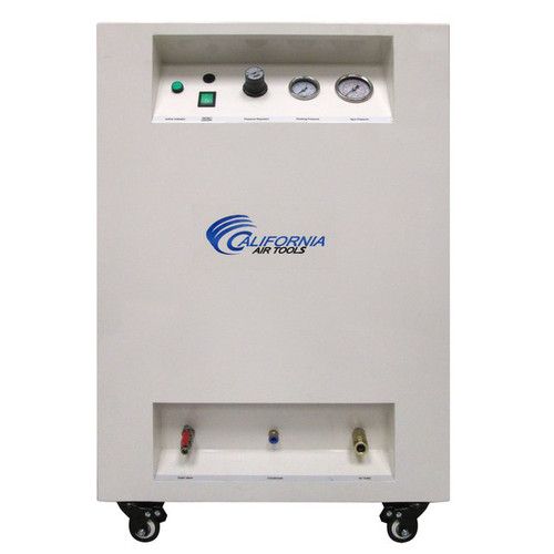 California Air Tools 10020SPC 2 HP 10 Gallon Ultra Quiet Steel Tank Air Compressor with Sound Proof Cabinet