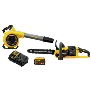 Dewalt DCKO667X1 60V MAX FLEXVOLT Brushless Lithium-Ion Cordless 16 in. Chainsaw/Blower Combo Kit (9 Ah)