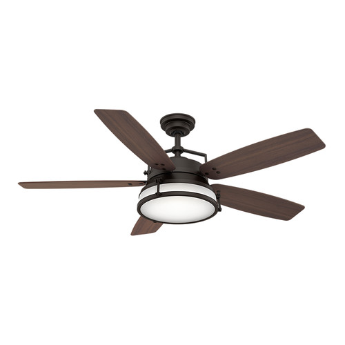 Casablanca 59360 56 in. Caneel Bay Maiden Bronze Ceiling Fan with Light and Wall Control