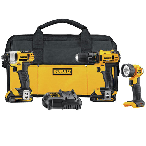 Factory Reconditioned Dewalt DCK381C2R 20V MAX Lithium-Ion 3-Tool Combo Kit