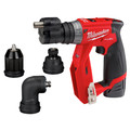 Milwaukee 2505-24-CPO M12 REDLITHIUM CP 1.5 Ah Lithium-Ion Compact Battery (2-Pack) plus Shockwave 15-Piece Tin Kit plus M12 FUEL Lithium-Ion 3/8 in. Cordless Installation Drill image number 1