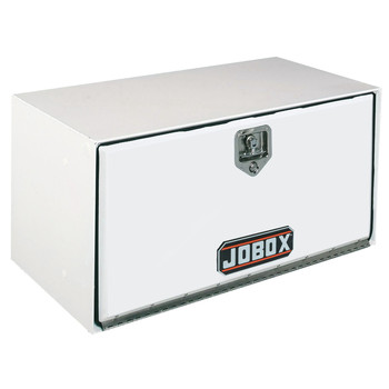 JOBOX 1-003000 18 in. Long Heavy-Gauge Steel Underbed Truck Box (White)