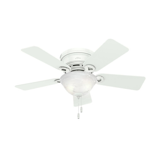 Hunter 51022 42 in. Conroy Snow White Ceiling Fan with Light