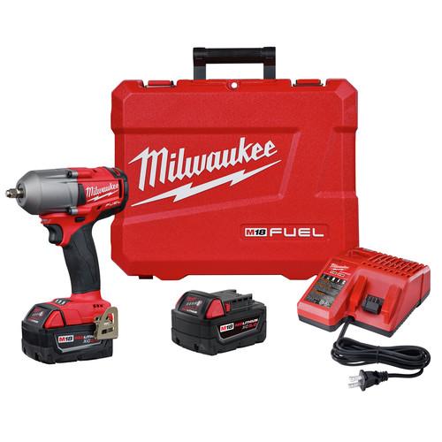 Milwaukee 2852-22 M18 FUEL 3/8 in. Mid-Torque Impact Wrench with Friction Ring - 5.0 Kit image number 0