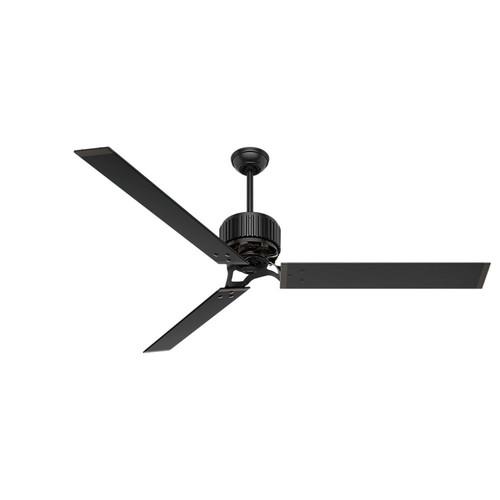 72 ceiling fan blade hunter hfc72 72 in industrial matte black ceiling fan 59136