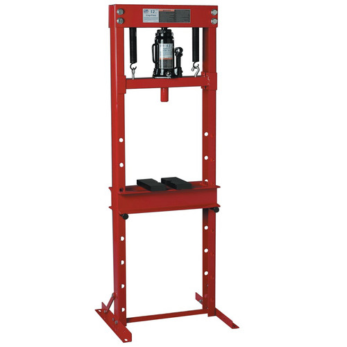 ATD 7453 12-Ton Hydraulic Shop Press with Bottle Jack