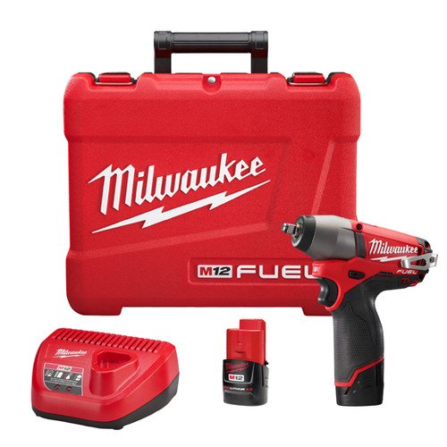 Factory Reconditioned Milwaukee 2454-82 M12 FUEL 12V Cordless Lithium-Ion 3/8 in. Impact Wrench