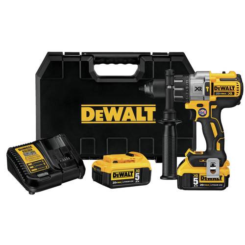 factory dewalt dcd996p2r 20v max xr cordless lithiumion 12 in brushless 3speed drill driver kit with 2 50 ah battery packs