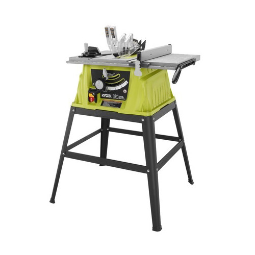 Factory reconditioned ryobi zrrts10g 15 amp 10 in table saw with factory reconditioned ryobi zrrts10g 15 amp 10 in table saw with steel stand greentooth Choice Image
