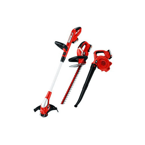 Black & Decker LC3K220 20V MAX Cordless Lithium-Ion Grass Trimmer, Sweeper and Hedge Trimmer Combo Kit
