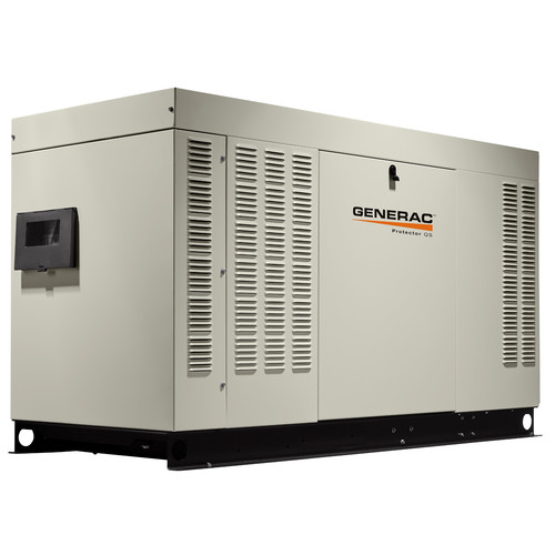 Generac RG04854ANAC Protector QS 120/240V 5.4L 48 kW Single Phase Liquid-Cooled Aluminum Automatic Standby Generator (LP/NG) - CARB