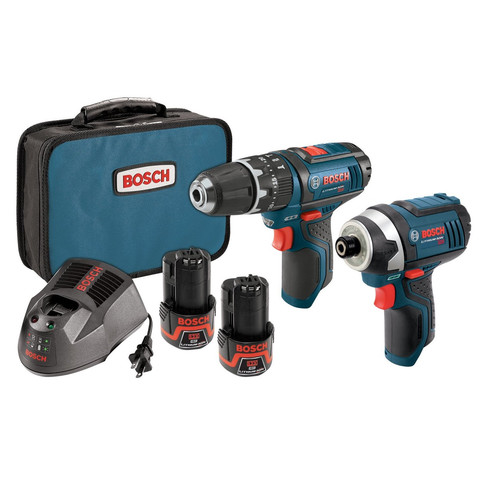 Bosch CLPK241-120 12V Max Lithium-Ion 3/8 in. Hammer Drill & Impact Driver Combo Kit