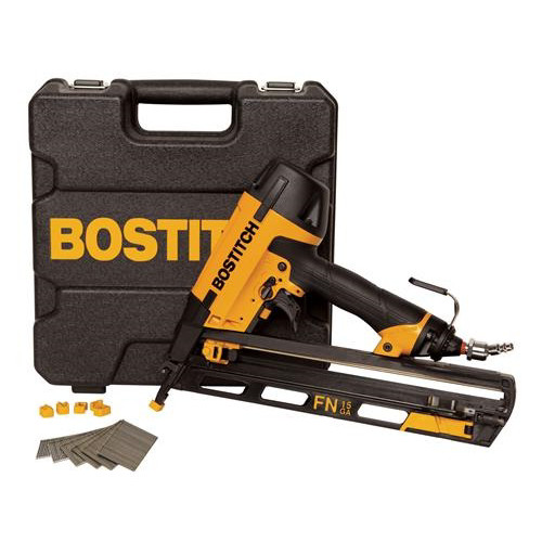 Bostitch N62FNK-2 15-Gauge 2-1/2 in. Oil-Free Angled Finish Nailer Kit