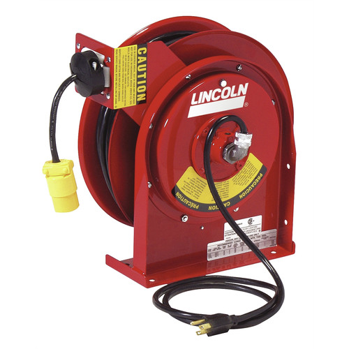 Lincoln Industrial 91031 Heavy Duty Extension Cord Reel with 20 Amp Receptacle image number 0