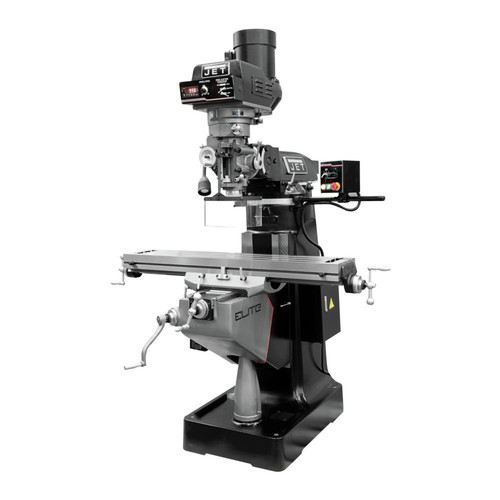 JET 894361 EVS-949 Mill with 3-Axis Newall DP700 (Quill) DRO and X, Z-Axis JET Powerfeeds image number 0