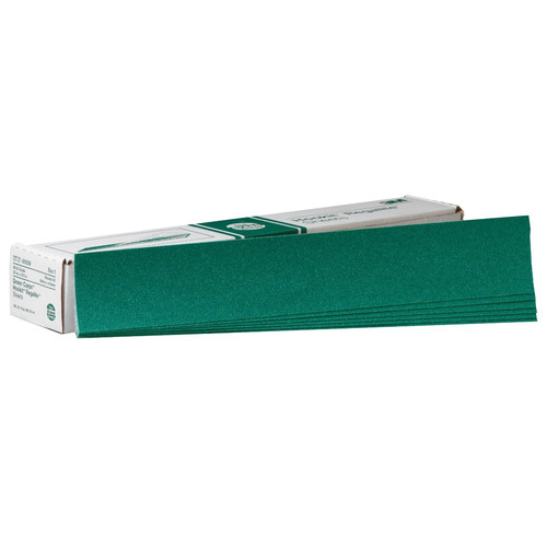 3M 539 Green Corps Hookit Regalite Sheet 2-3/4 in. x 16 1/2 in. 80E (50-Pack)