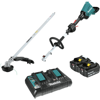 Factory Reconditioned Makita XUX01M5PT-R 18V X2 (36V) LXT Lithium-Ion Brushless Cordless Couple Shaft Power Head Kit with 5.0Ah String Trimmer Attachment image number 0