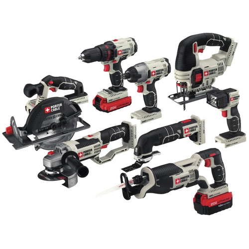 Factory Reconditioned Porter-Cable PCCK619L8R 20V MAX Cordless Lithium-Ion 8-Tool Combo Kit image number 1