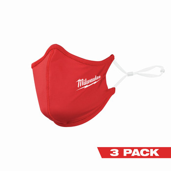 Milwaukee 48-73-4228 3-Piece 2-Layer Face Mask Set - Red