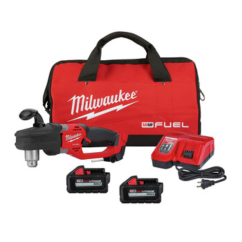 Milwaukee 2807-22 M18 FUEL HOLE HAWG Brushless Lithium-Ion 1/2 in. Cordless Right Angle Drill Kit (6 Ah)
