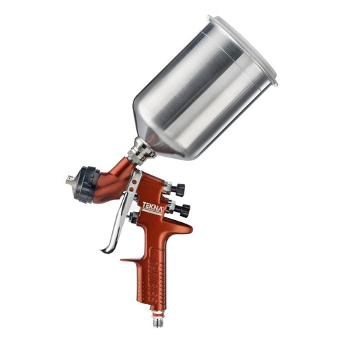 Tekna 703662 Copper Premium 1.4mm Gravity Feed Spray Gun with 900cc Aluminum Cup