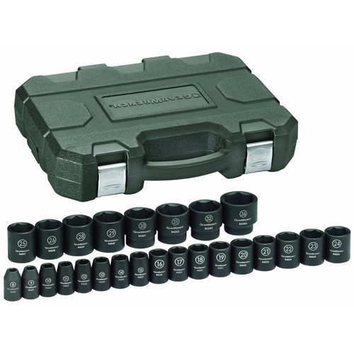 GearWrench 84933N 25-Piece 1/2 in. Drive Metric Impact Socket Set