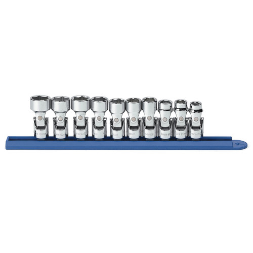 GearWrench 80565 10-Piece 3/8 in. Drive 6-Point Metric Flex Socket Set