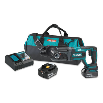 Makita XRH04T 18V LXT Cordless Lithium-Ion SDS-Plus 7/18 in. Rotary Hammer Kit image number 0