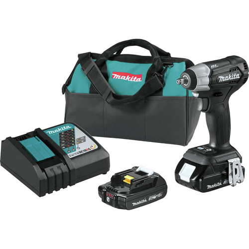 Makita XWT12RB 18V LXT 2.0 Ah Lithium-Ion Sub-Compact Brushless Cordless 3/8 in. Sq. Drive Impact Wrench Kit