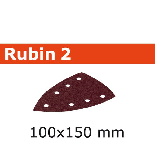 Festool 499136 4 in. x 6 in. P100-Grit Rubin2 Abrasive Sheet (50-Pack)