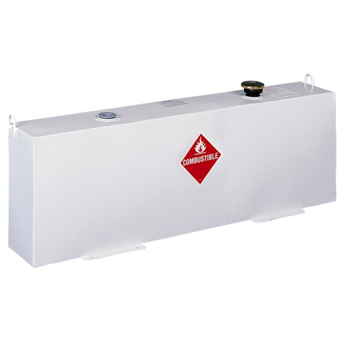 Delta 486000 37 Gallon Vertical Steel Liquid Transfer Tank - White