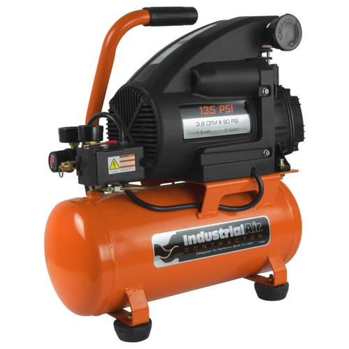 Industrial Air C032I 3 Gallon 135 PSI Oil-Lube Hot Dog Air Compressor (1.5 HP)